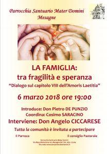 Locandina iniziativa famiglia 6 marzo 2018
